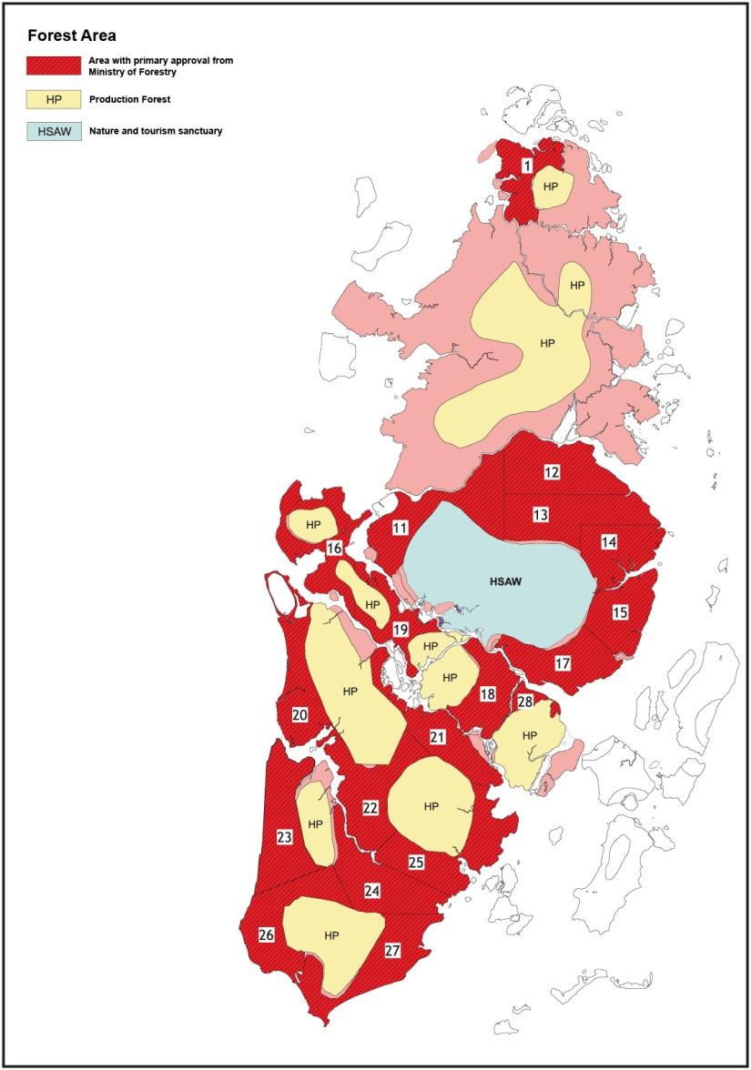 PT Menara Concession map
